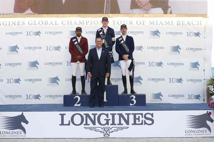 LGCT Miami 2015 Scott Brash, Bassem Hasann Mohammed i Pieter Devos