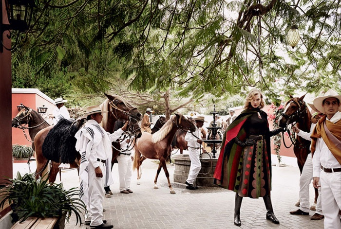 Karlie Kloss Takes Fall's Best Equestrian Fashions on a Trip to Peru