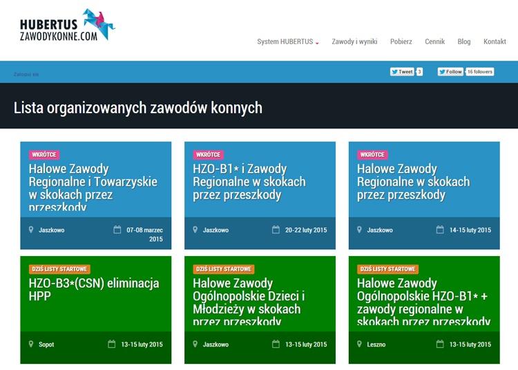 Dobre i polskie: Hubertus ZawodyKonne Equista.pl Bartosz Wawrzyniak, wyniki na żywo z zawodów, skoki przez przeszkody,