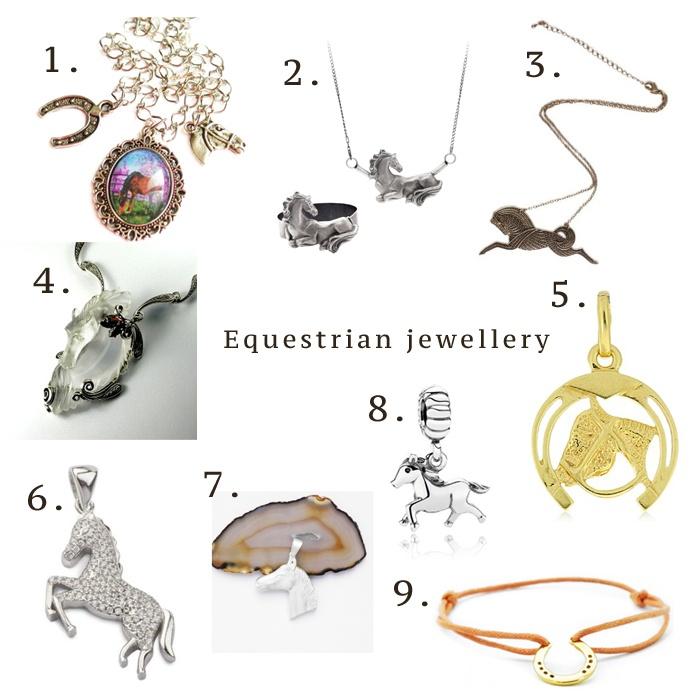 Akcesoria: Biżuteria z motywem hippicznym set