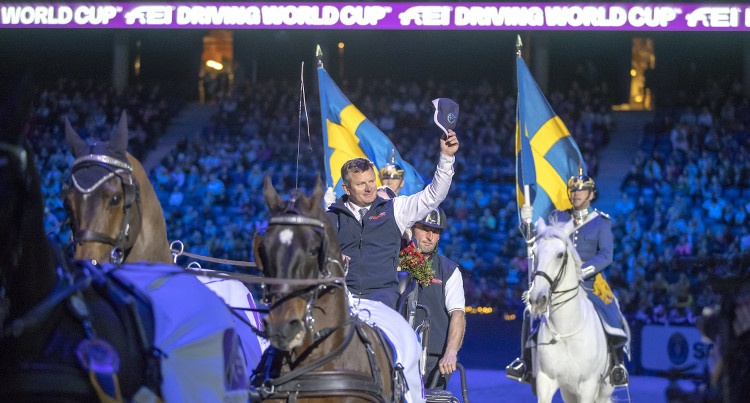 FEI Driving World Cup 2019 – Boyd Exell (AUS) w Sztokholmie, fot. FEI/Roland Thunholm
