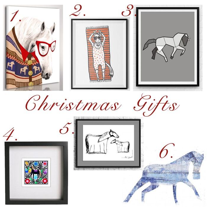 Christmas Gifts DESING świąteczne prezenty obrazy i grafiki z motywem konia