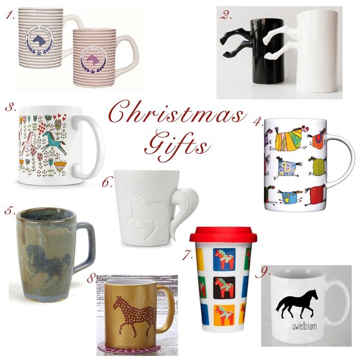 Christmas Gifts Cup świąteczne prezenty kubki z motywem konia