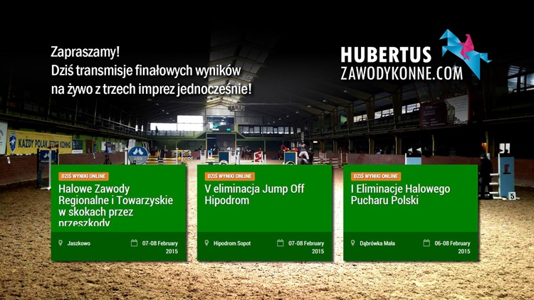 Dobre i polskie: Hubertus ZawodyKonne Equista.pl Bartosz Wawrzyniak, wyniki na żywo, hala zawody konne, skoki przez przeszkody,