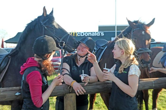 McDonald's for horse riders McRide McCarrots McDrive