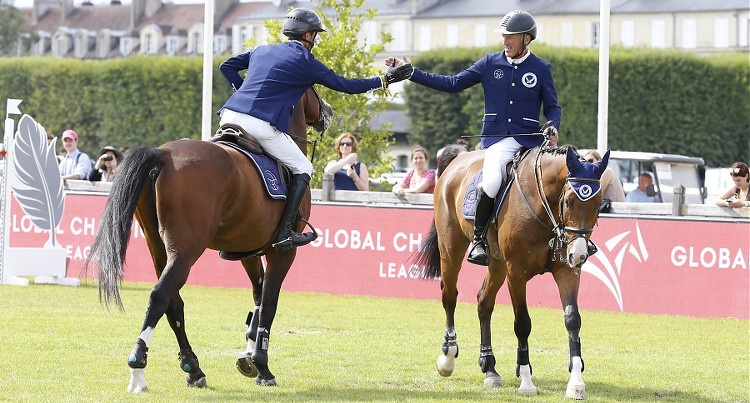 Berlin Eagles – Christian Kukuk (GER) & Ludger Beerbaum (GER) w Chantilly, fot. Stefano Grasso/GCL