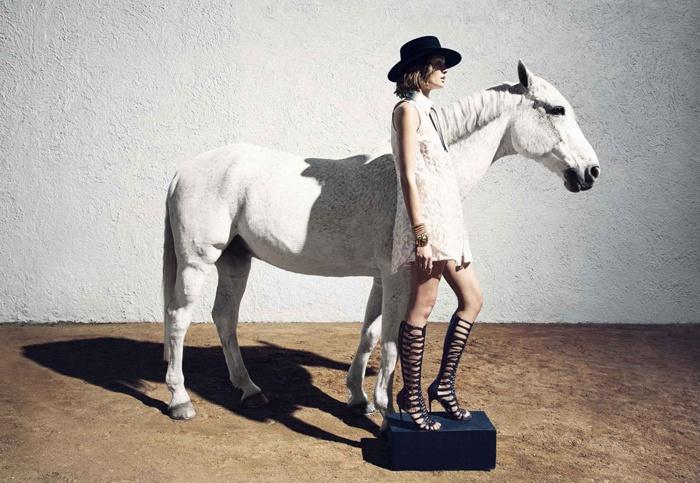 Fashion: Nadja Bender by Camilla Akrans for Harper's Bazaar 2015